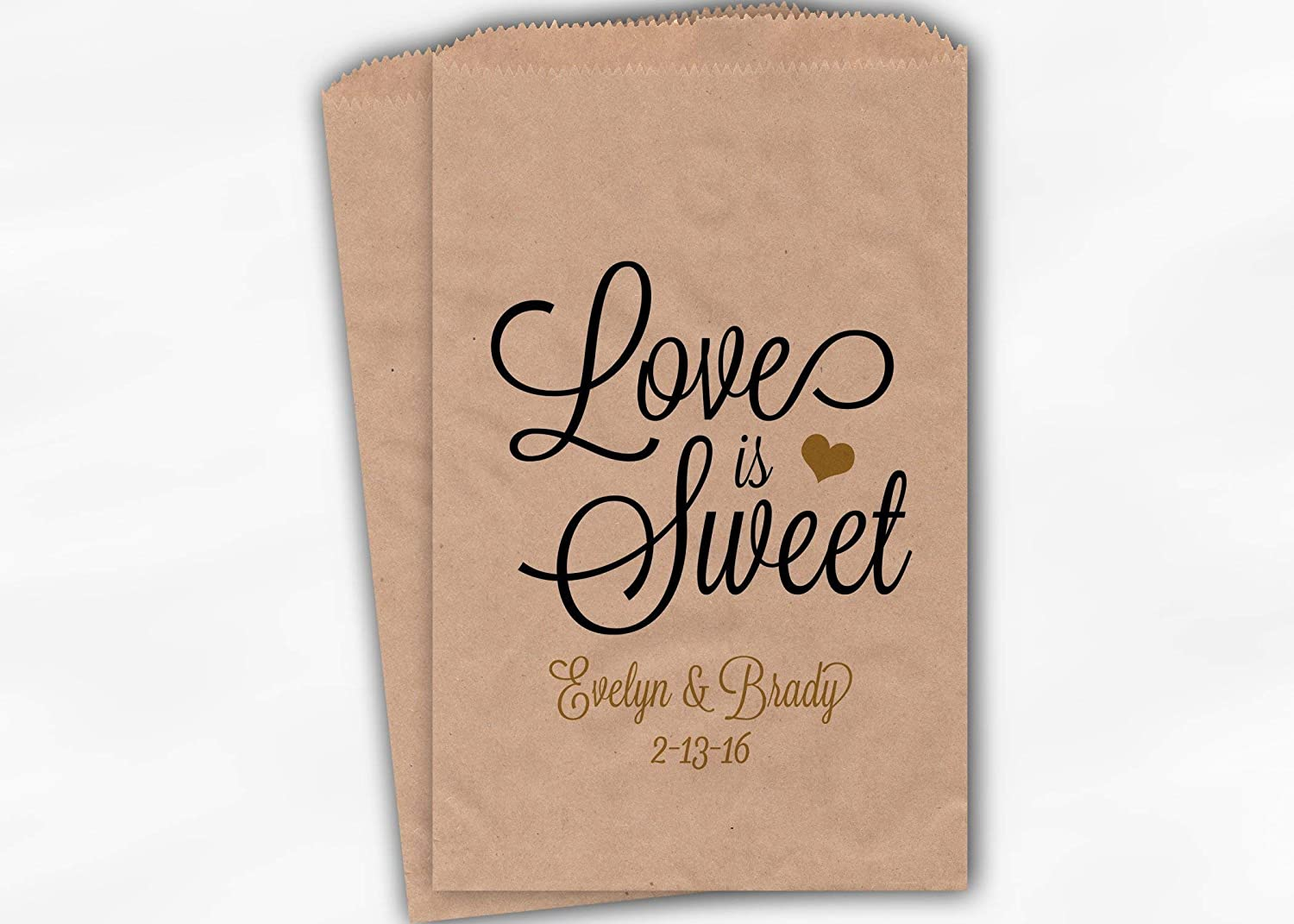 amazon com love is sweet wedding favor bags for candy buffet in rh amazon com personalized paper bags for candy buffet personalized paper bags for candy buffet