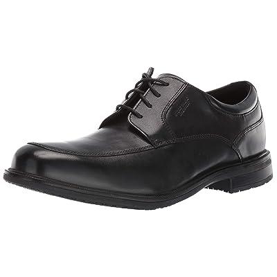 Rockport Men's Essential Details II Apron Oxford, Black Leather, 120 M US | Oxfords