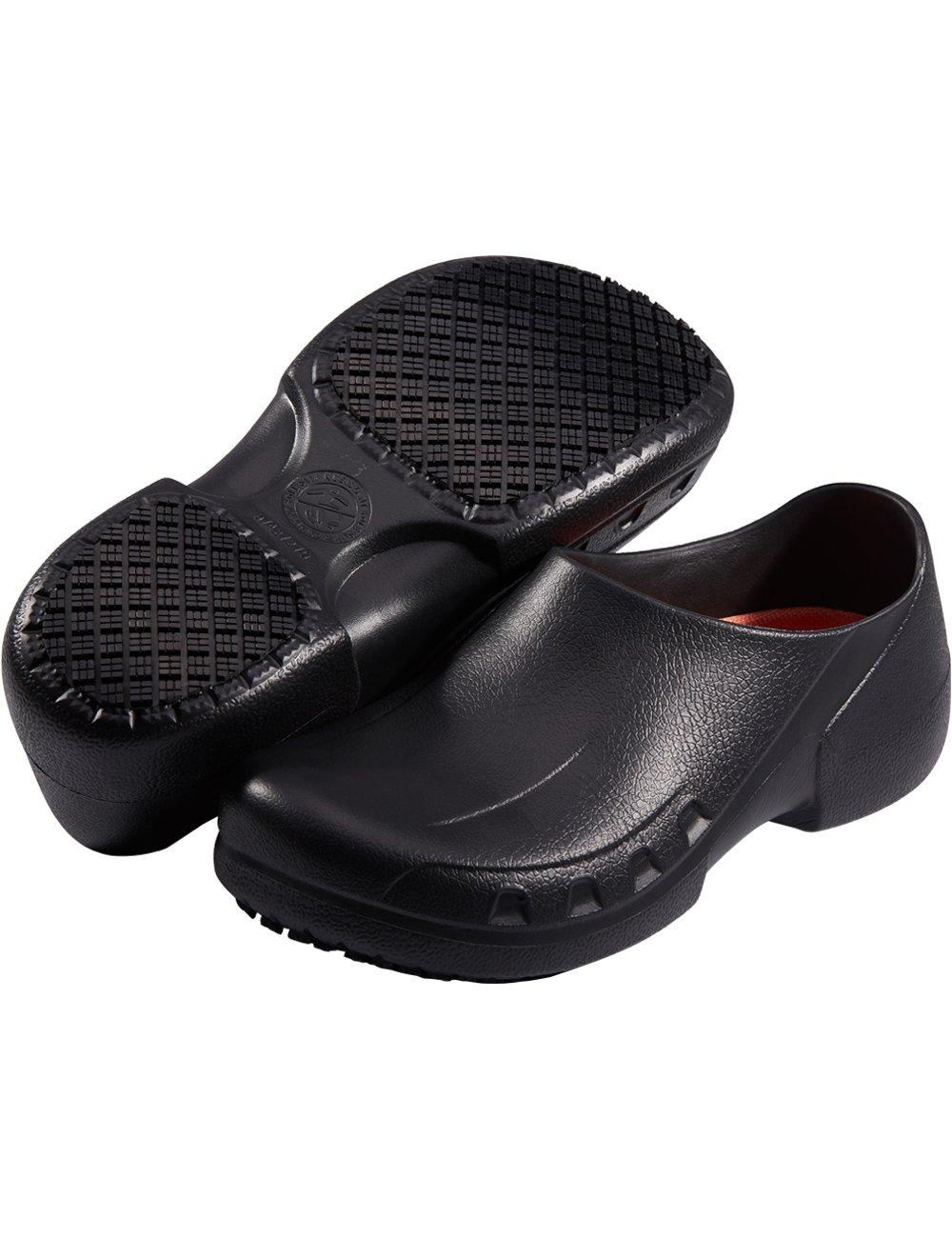 SensFoot Slip Resistant Chef Shoes Restaurant Non Slip Work Shoes for Men Women (12 M US Women / 10 M US Men) Black by SensFoot