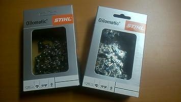 2 STIHL Sägeketten 3//8P-44E-1,3 Picco Micro 3 für Stihl MS181 30cm 3636 000 0044