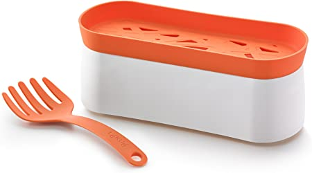 Lékué - Recipiente para cocinar pasta en microondas y tenedor: Amazon.es: Hogar