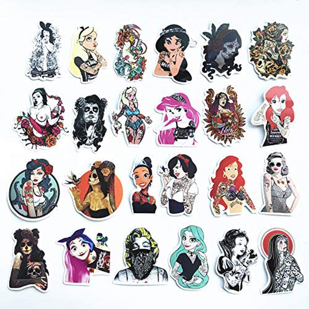 Graffiti Sexy Cartoon Adult Stickers for Car, Laptop, Skateboard, Luggage, Waterproof Vinyl Decals for Motorcycle,Bicycle,Bumper 50 PCS No-Duplicate Stickers Pack