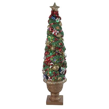 Christmas Topiary.Amazon Com Northlight 5 Led And Fiber Optic Lighted