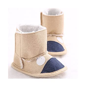 Amazon.com   Treadmill shoes 0-1 year-old male and female baby shoes soft  bottom winter warm plus velvet snow boots baby shoes Christmas gifts (2)    Baby 2669c6b0dd
