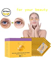 30 Pairs Under Eye Patches, Under Eye Bags Treatment Gold Under Eye Mask Anti-Aging Hyaluronic Acid