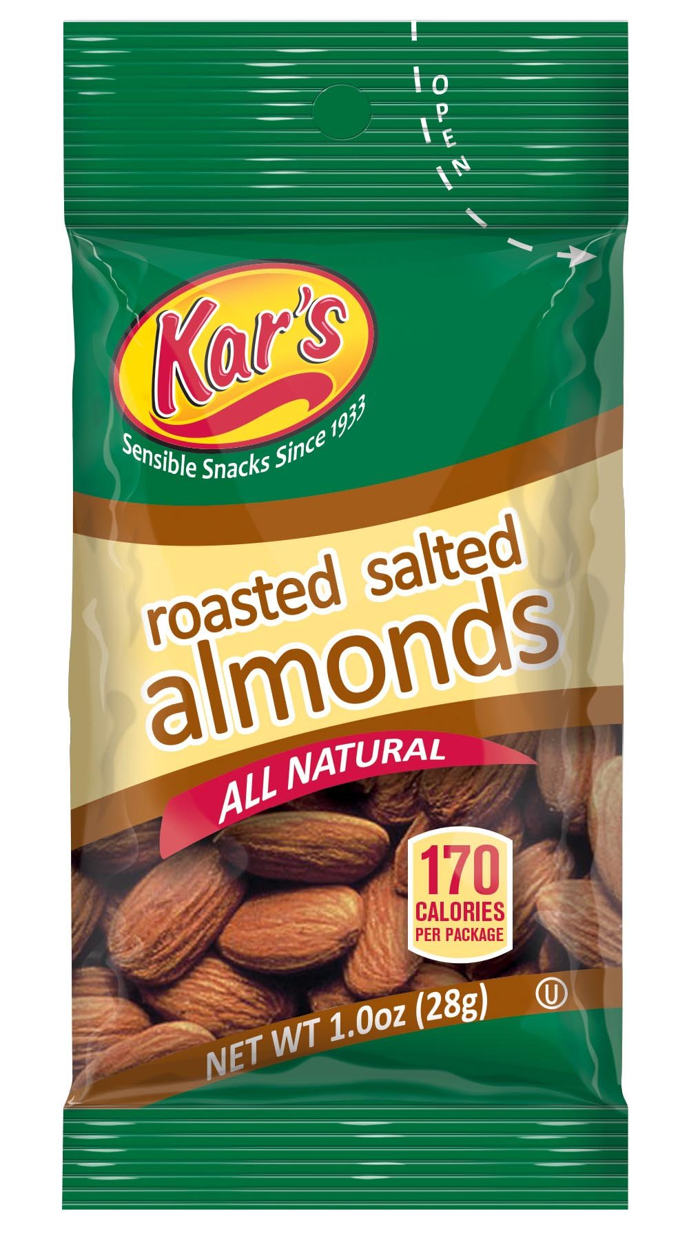Kar's Nuts Salted Almonds, 1-Ounce Bags (Pack of 100) by Kar's Nuts