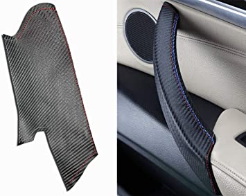 Amazon Com M Performance X5 Carbon Fiber Trim Door Handle Cover For Inside Pull Handle Carbon Fibre Door Close Handle With M Sport Stitch Color Fits Right Door In X5 And X6 E70