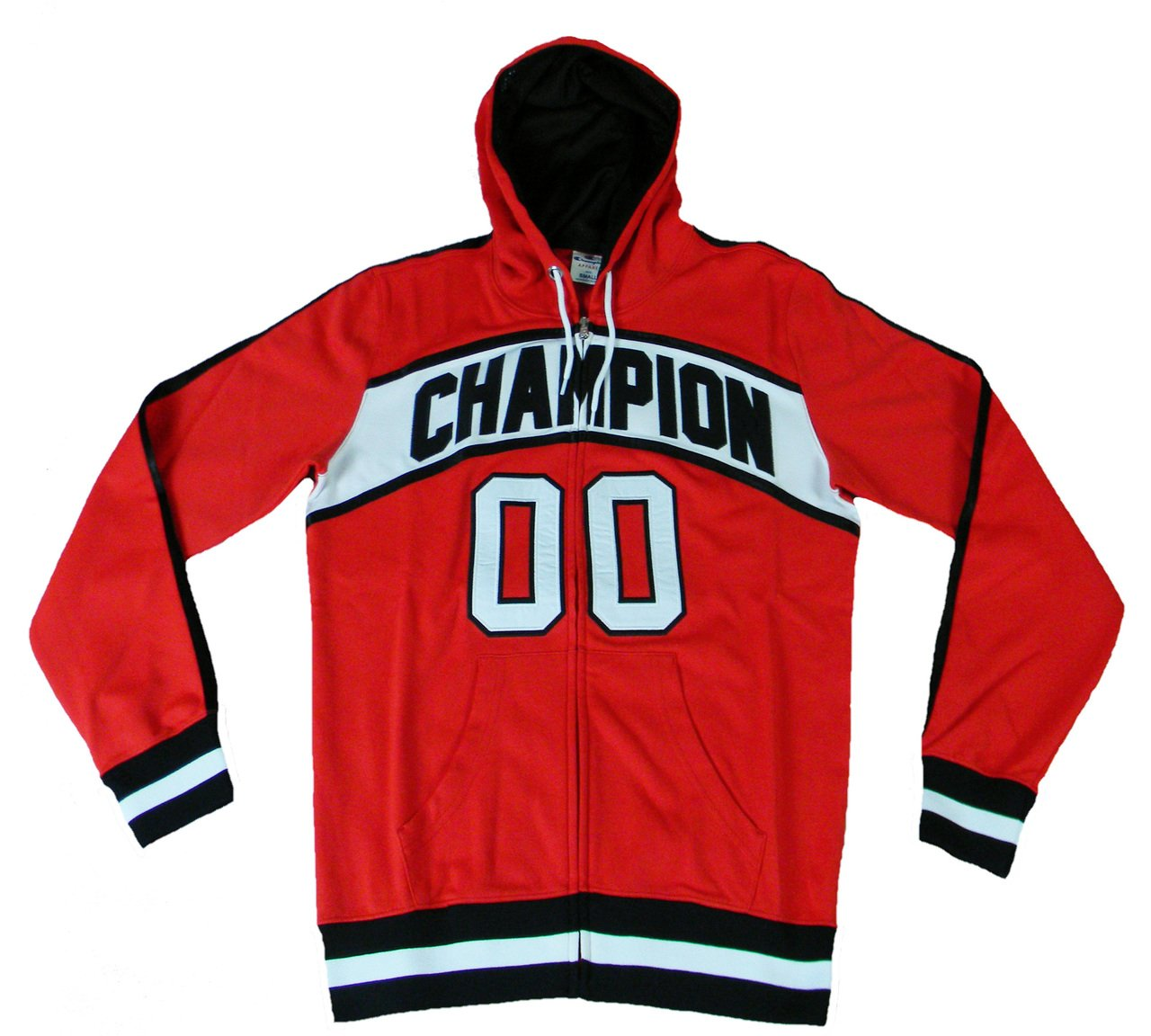 Champion Hooded Full Zip mit Kapuze Mann M BBALL Polybaumwolle CRD (rot)