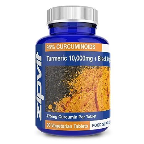 Cúrcuma Curcumina   90 comprimidos   La potencia más alta, 475mg de curcumina por comprimido