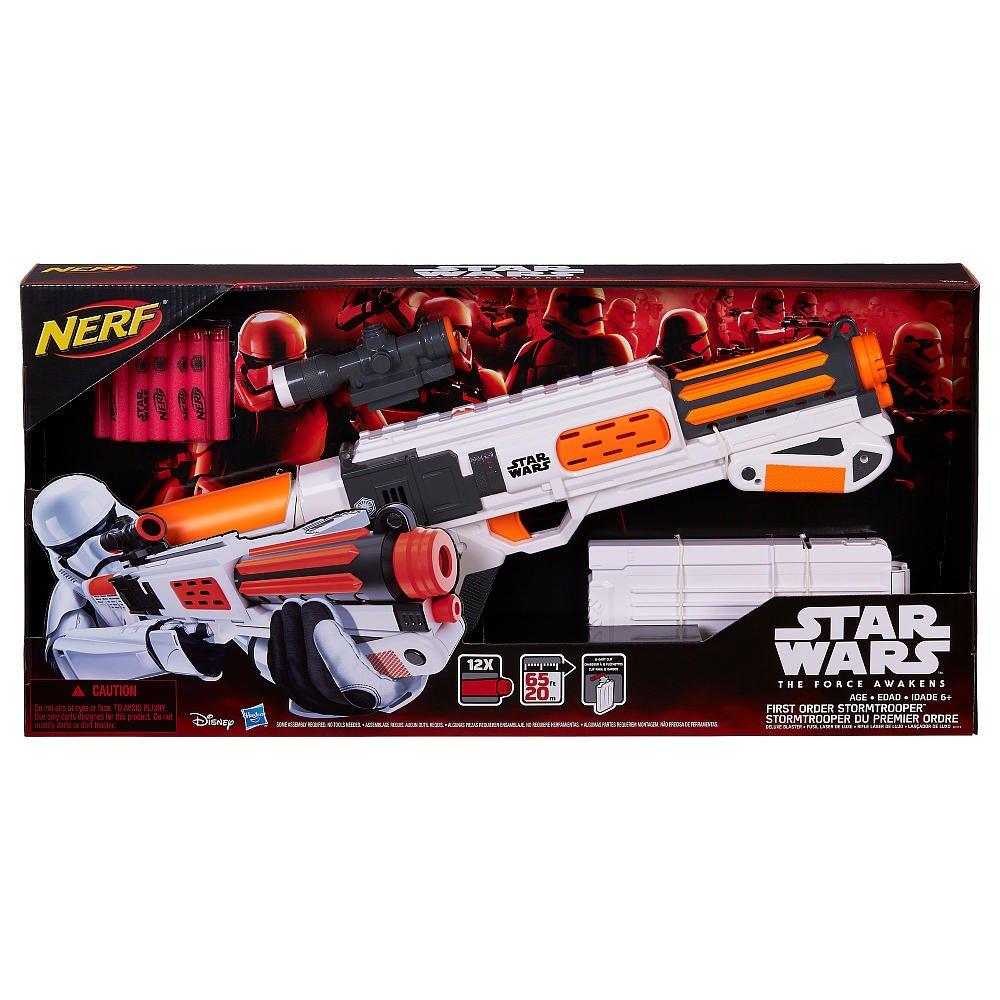 Star Wars Nerf Episode VII First Order Stormtrooper Deluxe Blaster ナーフスターウォーズエピソードファーストオーダーストームトルーパーブラスターデラックスブラスター [並行輸入品] B014WD7NIM