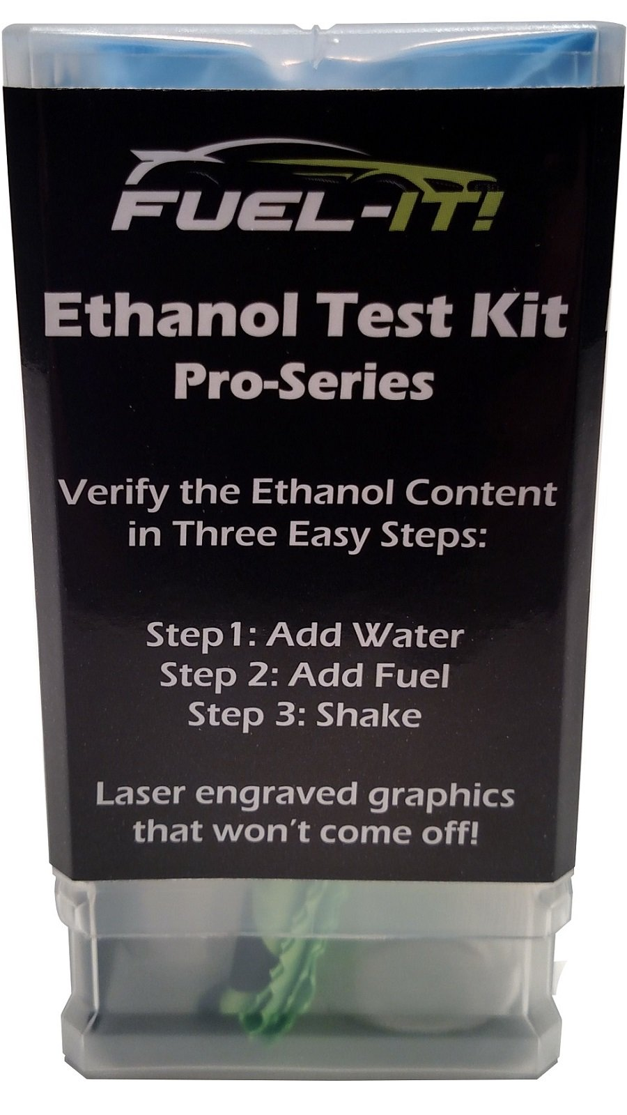 Pro-Series Ethanol Test Kit with 2 Reusable Testers for Ethanol, E85, Gasoline, Race Gas, Ethanol-Free Fuel Tester