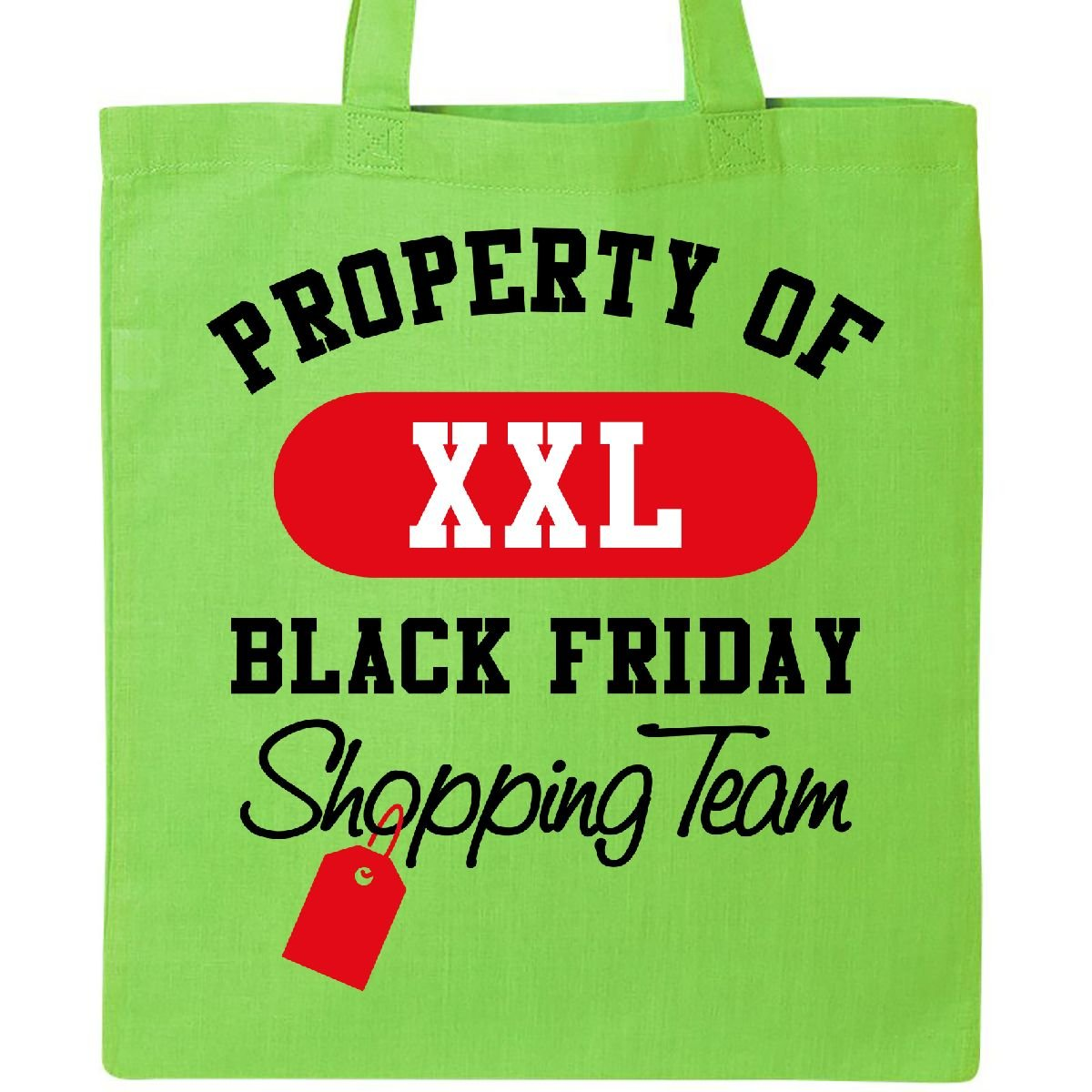 Inktastic – Black Friday Shopping Teamトートバッグ One Size B076XXQHS2  ライムグリーン