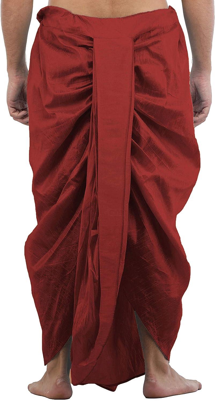 Maenner-Dhoti-Dupion-Silk-Plain-handgefertigt-fuer-Pooja-Casual-Hochzeit-Wear Indexbild 29