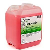 Hygiene VOS crème zeep 5 liter milde waslotion zeep crème roze voor alle gangbare druk dispensersystemen en…