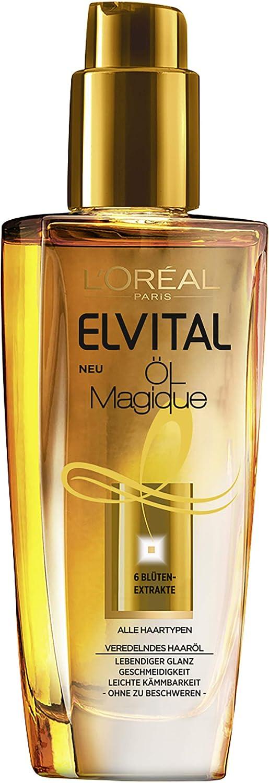 L'oréal Paris Aceite para el cabello Elvital, 1 unidad (100 ml) A98486