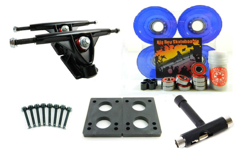 180mm Trucks 70mm Wheels T-Tool Combo (Black Trucks, Gel Purple) by [BLANKNYC]   B00NUDDQDC