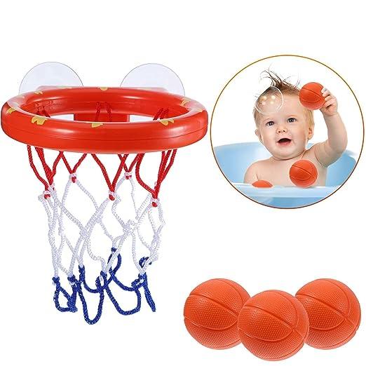 Fun Bath Canasta y bolas de baloncesto Playset for Little Baby ...