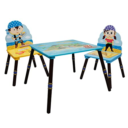 Rostrad Childrens Kids Wooden Table Chair Set Crayon Pencil Design Rostrad ®