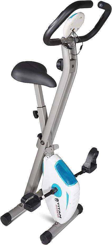 Capacidad de 260 lbs OT202 Bicicleta estacionaria con Monitor LCD Bicicleta est/ática Vertical magn/ética Plegable con Bandas de Resistencia para el Brazo ONETWOFIT Bicicleta est/ática Plegable