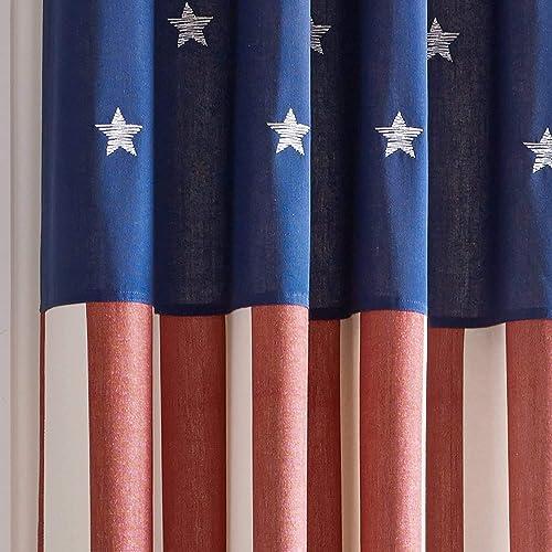 Valances etc. American Flag Window Curtain