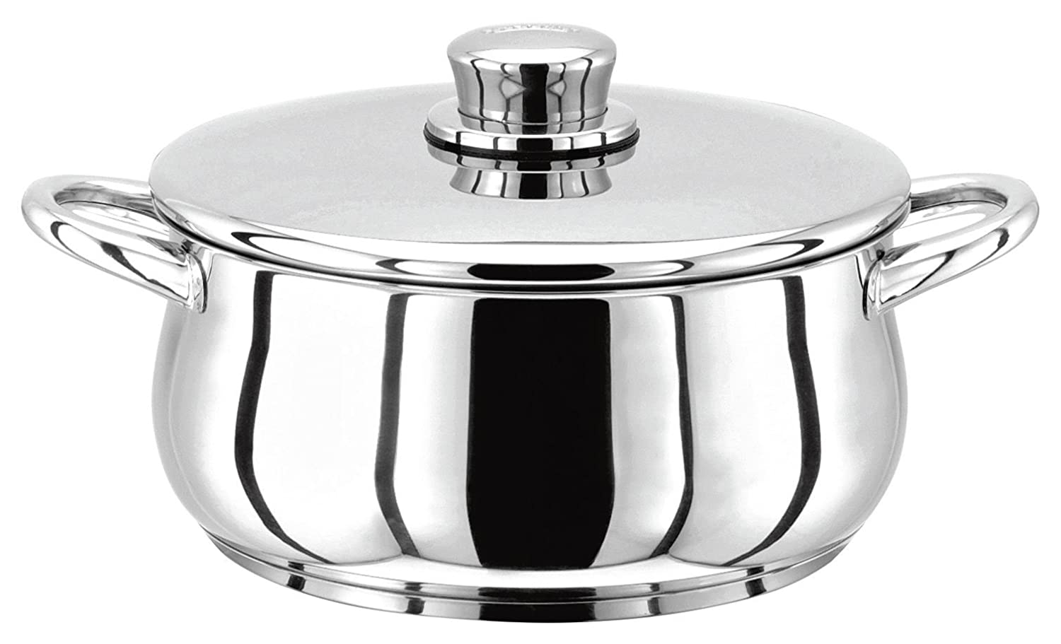 Stellar 1000 Stainless Steel Casserole Pan and Lid (20cm) 2.0 Ltr Capacity