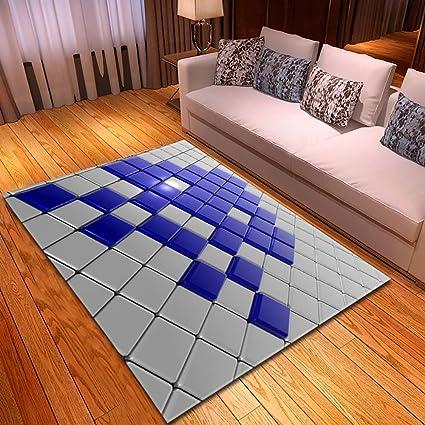 Amazon.com: Living Room 3D Carpet Modern Machine Washable ...