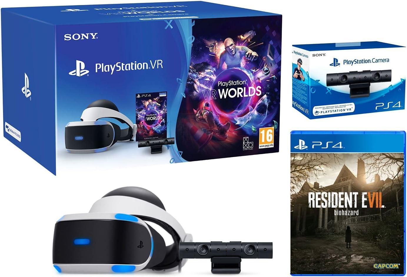 Playstation VR Resident Evil 7 Pack + VR Worlds + Camara V2 ...