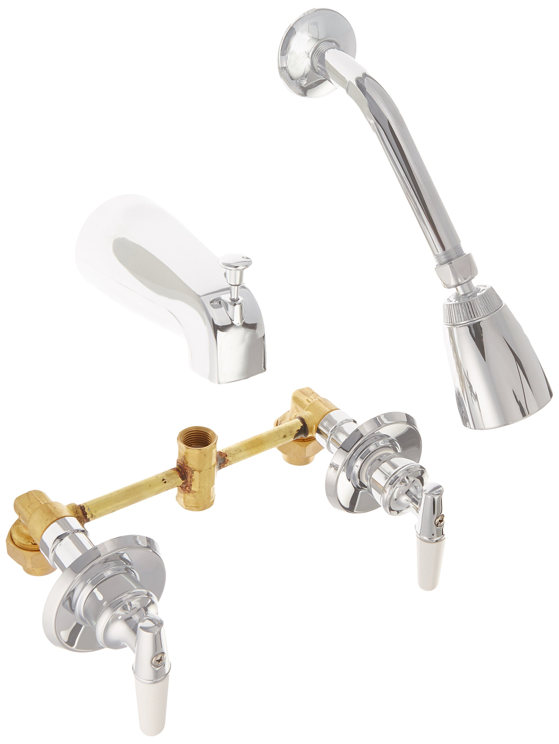 Hardware House 137294 Tub and Shower Mixer, Chrome