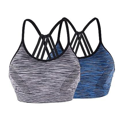 050479179a89e Amazon.com   LYZ Women s Padded Sports Bra Parachute Back Design Seamless  Strappy Yoga Bra   Sports   Outdoors