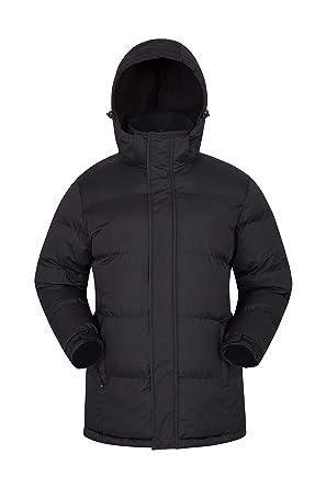 Mountain Warehouse Chaqueta de Nieve para Hombre - Impermeable, con Capucha, puños y Dobladillo Ajustables - Ideal para Viajes en Invierno