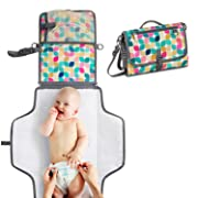 Toolik Portable Changing Pad Baby Diaper Clutch with Waterproof Infant Travel Station Kit Mat, Vintage