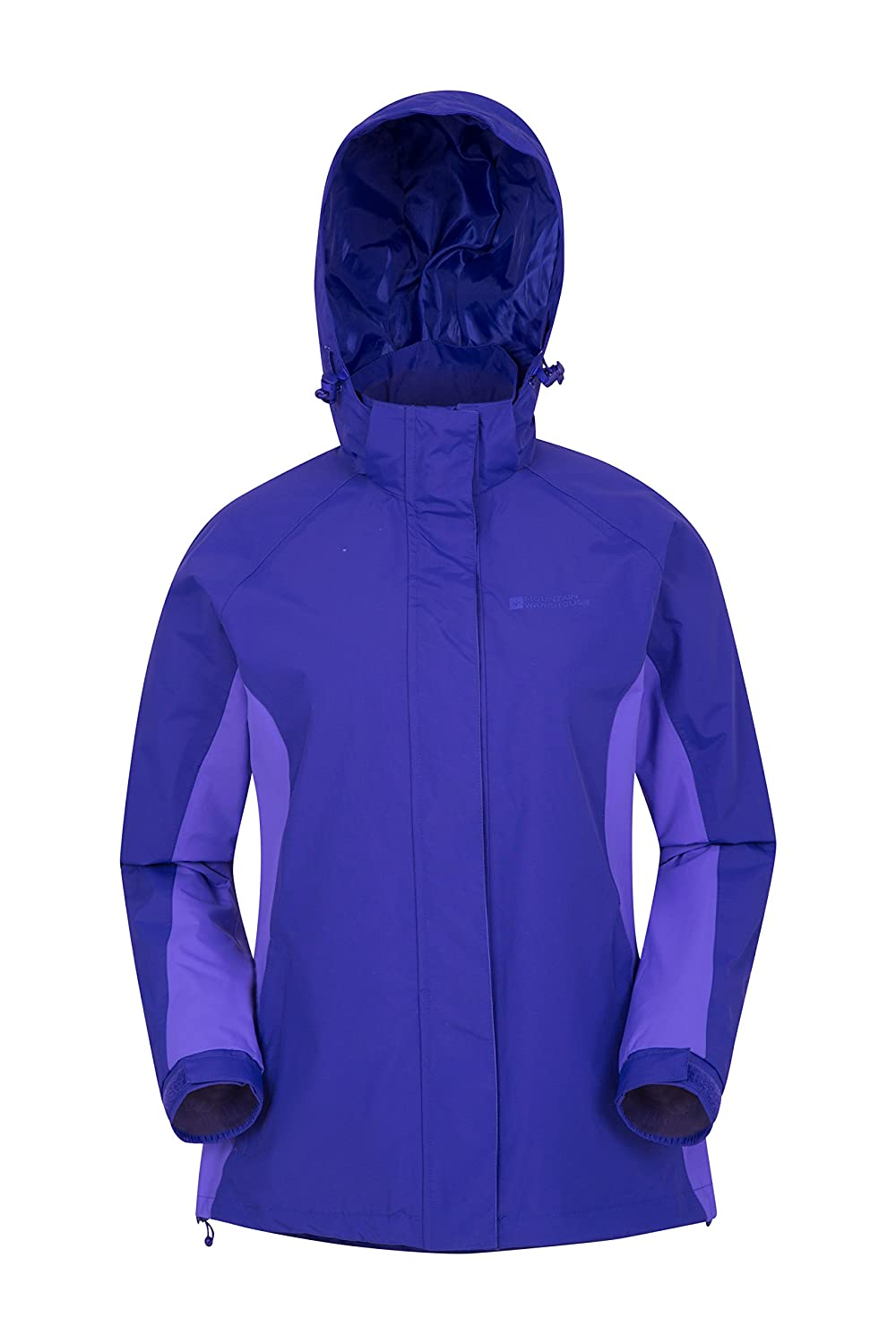Mountain Warehouse Breeze Womens Jacket - Waterproof Rain Coat, Breathable Summer Overcoat, Taped Seams, Lightweight Spring Travelling, Camping & Outdoor