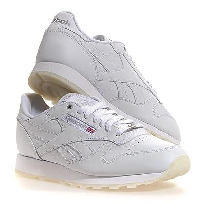 Reebok Classic Leather ICE V52174 White Silver ICE Men Shoes (US Men 9.5 bb0e1202c