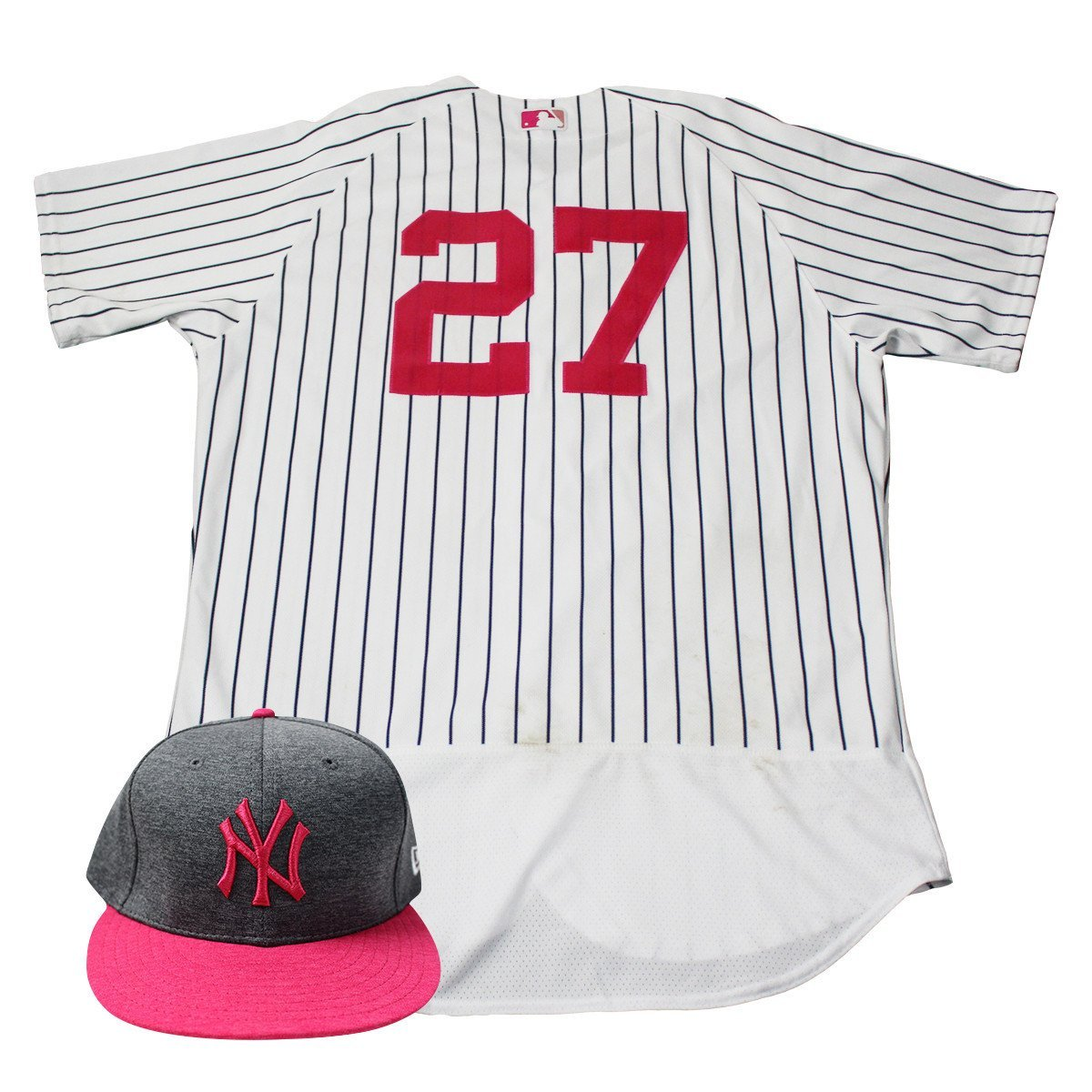 2de7f953 Austin Romine New York Yankees Game Used #27 Mother's Day Jersey & Hat Set  (5/14/2017)(Game Used Jersey Game Issued Hat) at Amazon's Sports  Collectibles ...