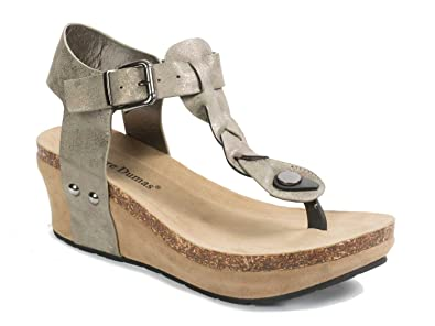 06886209f4ee Pierre Dumas Chantal-1 Women s Braided Thong Wedge Sandal (8.5M