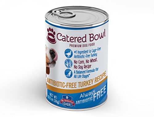Catered Bowl Antibiotic-Free Turkey Pet Food for Dog, 13.2 oz, Case of 12