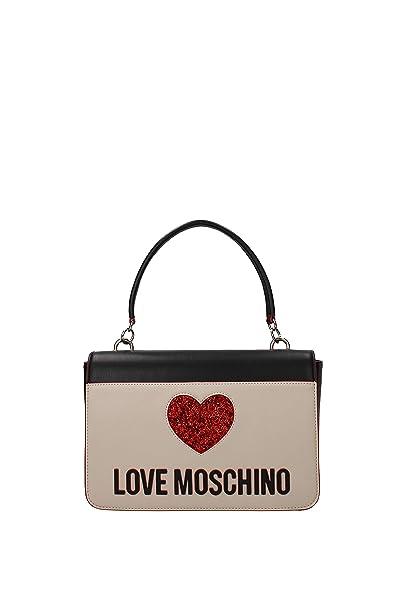 Love Moschino Borsa Donna Mix Spalla con Tracolla Applicazione Cuore  NER avor JC4115PP17L3100A  Amazon.it  Abbigliamento acae62a4bf5