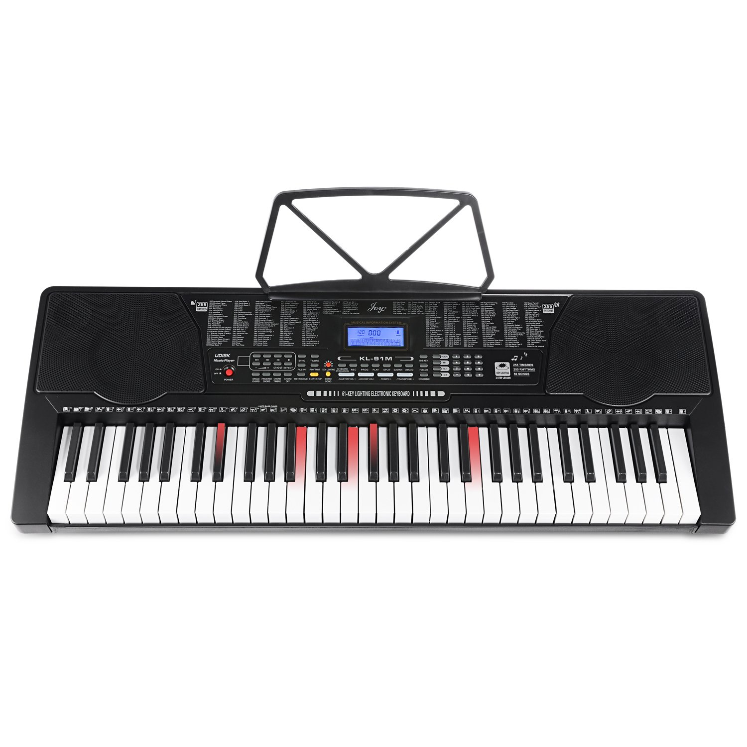 Joy KL-91M With USB & 61 Lighted Keys Simulation Piano Keyboard Starter Pack Including Headphone, Stand, Stool and Power Supply CHINA JOY KEYBOARDS CO. LTD KL-91M-KIT