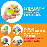 TIM Power Your Fun Rainbow Giant Stress Ball for Adults and Kids, 9/11 CM Jumbo Squishy Stress Relief Ball Fidget Toy…
