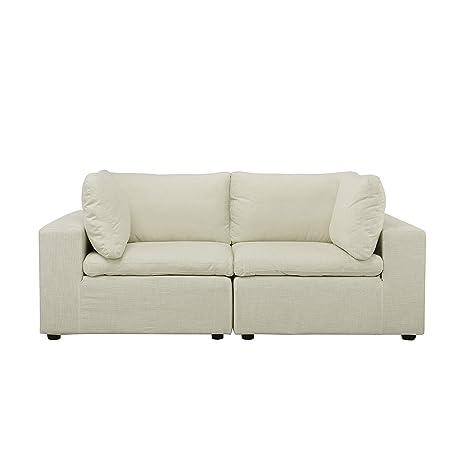 BHDesign Taylor - Sofá Recto Moderno y cómodo de Tela, Color ...