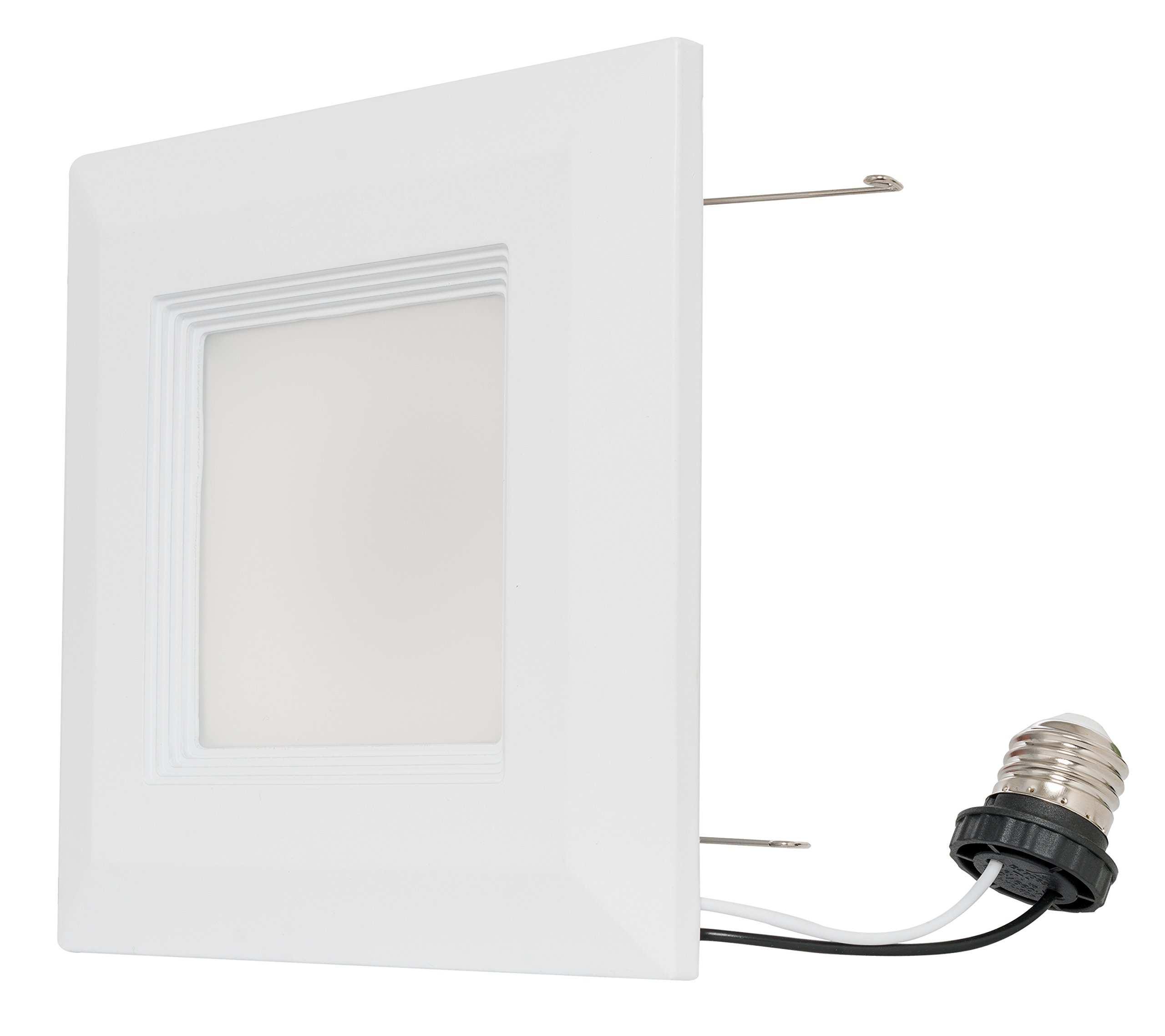 Westgate 15 Watt 6'' Inch Recessed Lighting Kit With Baffle Trim - Square Shaped LED Retrofit Downlight - Premium Dimmable Light Fixture - Best Ceiling Lights - ETL Listed (4100K Cool White, 8 Pack) by Westgate (Image #3)