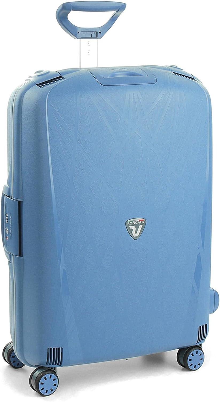 Roncato Light Maleta Grande Azul, Medida: 75 x 53 x 30 cm, Capacidad: 109 l, Pesas: 4.80 kg