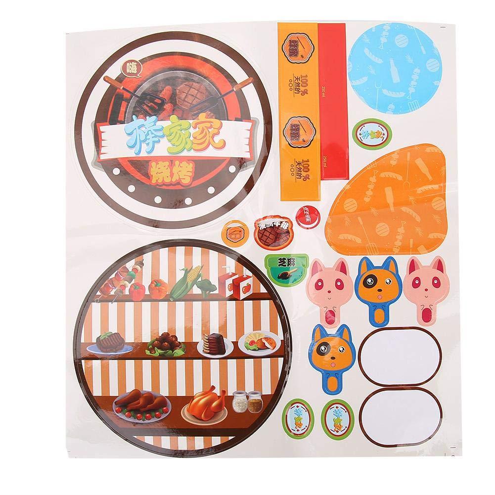 VGEBY1 Juegos de Juguetes para barbacoas Juegos de Barbacoa BBQ Juego de Parrillas para barbacoas Juguetes educativos para ni/ños peque/ños