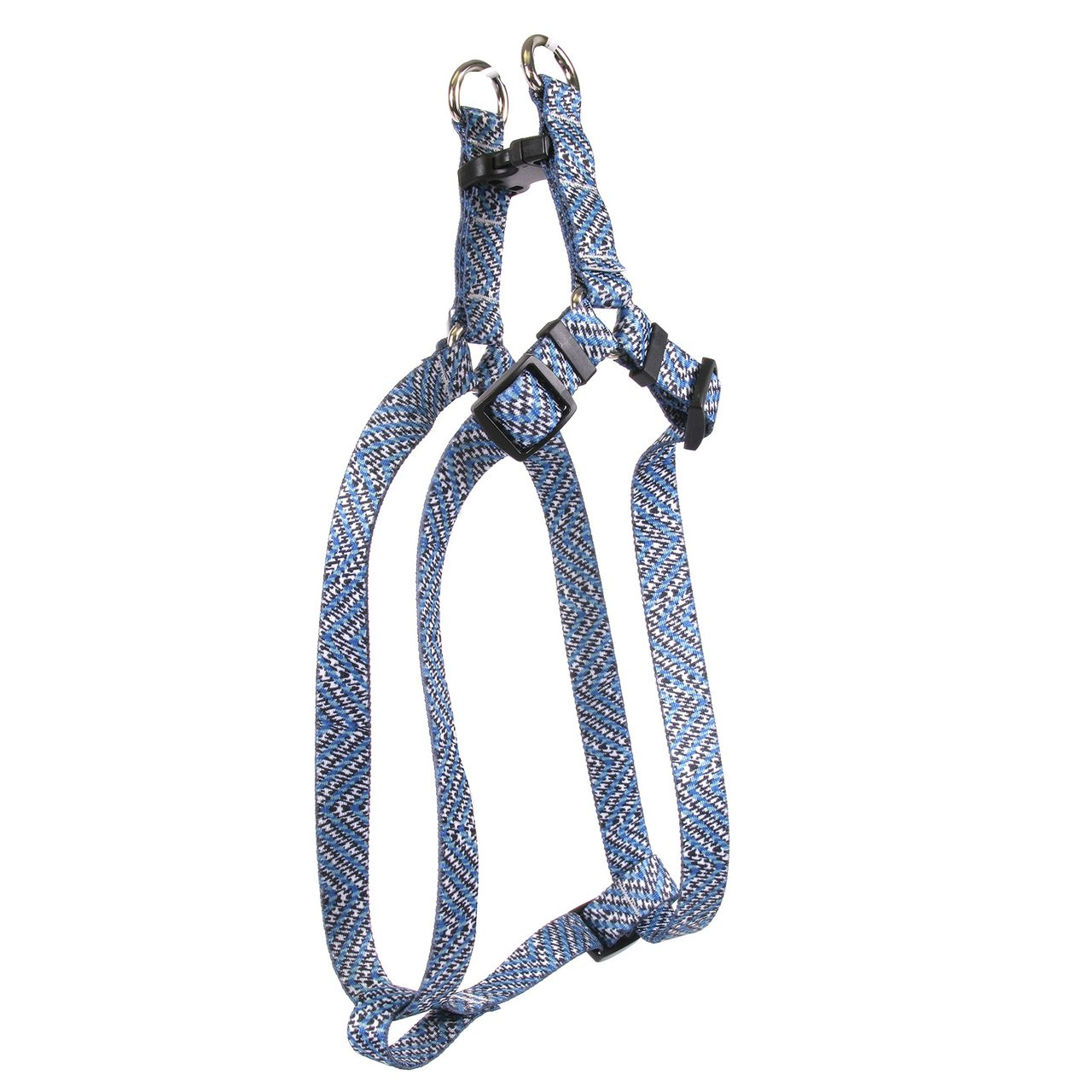 Large 25\ Yellow Dog Design bluee Tweed Step-in Dog Harness 1  Wide and Fits Chest Circumference of 25 to 40 , Large