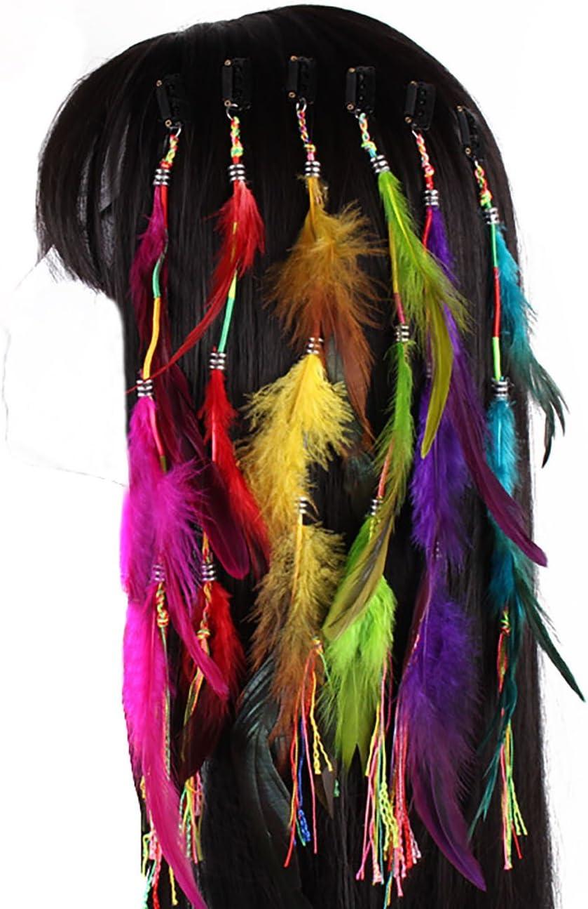 Extensiones de pelo con clip de plumas