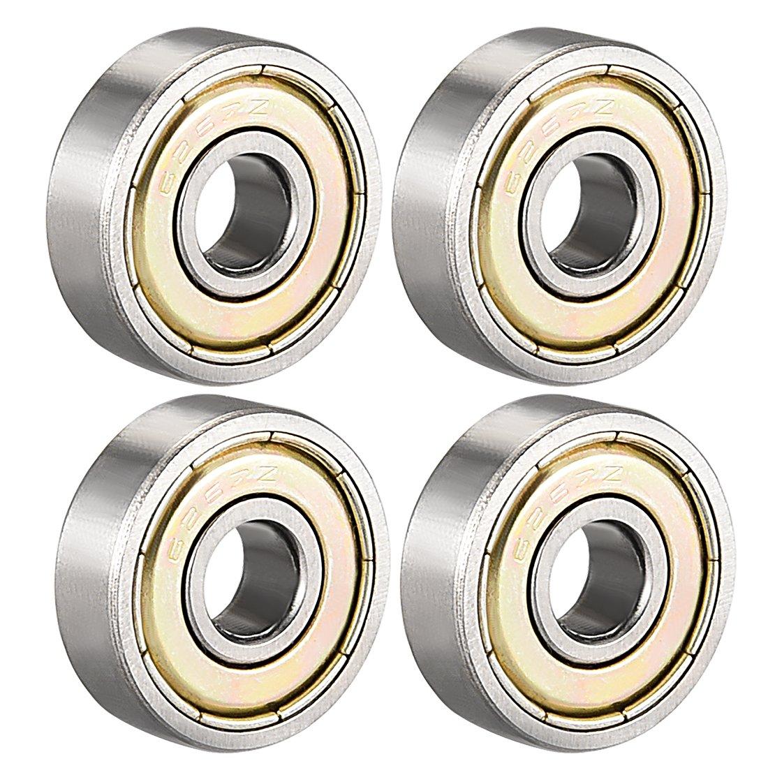 Rodamientos de bolas de ranura profunda uxcell 623-629ZZ//RS doble escudo//sellado, acero al carbono