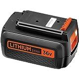 Black + Decker 36V, 2.0Ah LITHIUM//Complément Batterie de rechange, compatible, 36V Appareils, bl20362