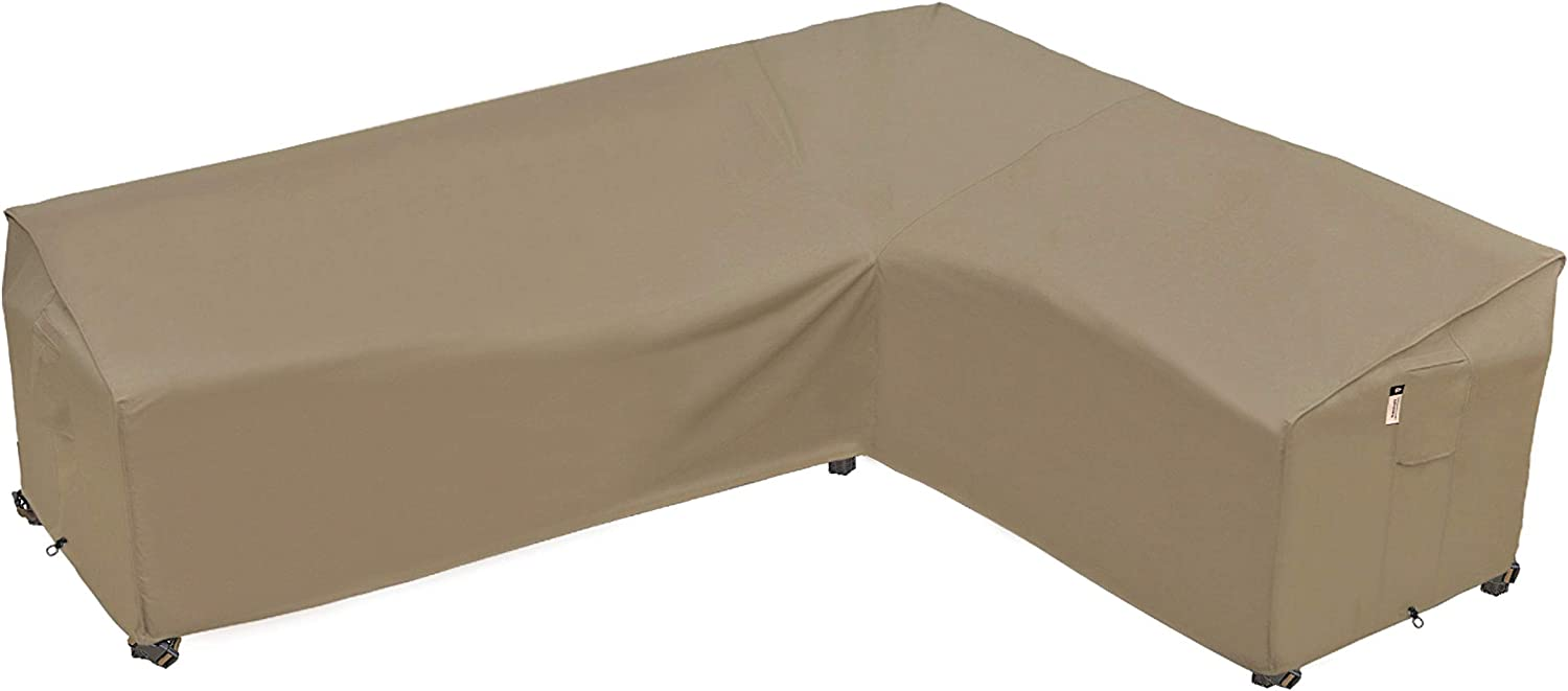 "Heavy Duty Outdoor Sectional Sofa Cover, 9""X9"" Waterproof 9% 9D  Patio Sectional Couch Cover, L-Shaped Lawn Patio Furniture Cover, Right  Facing"