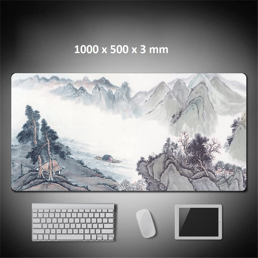 Fish, 1200 x 600 x 3 mm LL-Coeur XXL Landscape Gaming Mouse Pad Computer Keyboard Mat Office Desk Pad
