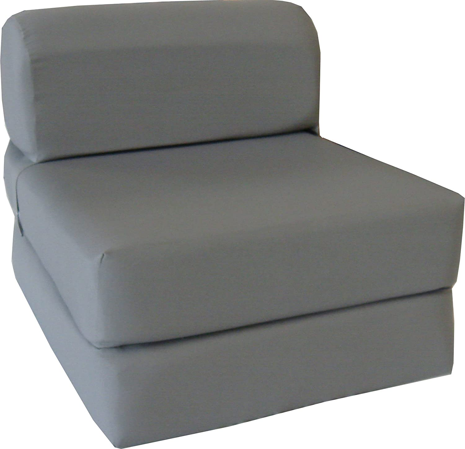 "Amazon Gray Sleeper Chair Folding Foam Bed Sized 6"" Thick X"